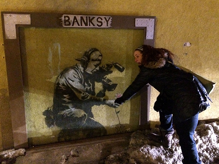 Tamar finds a Banksy